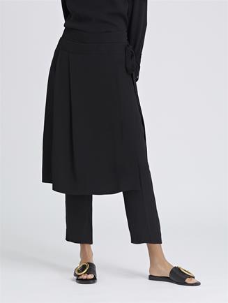 Fluid Cady Wrap Skirt Pants Black