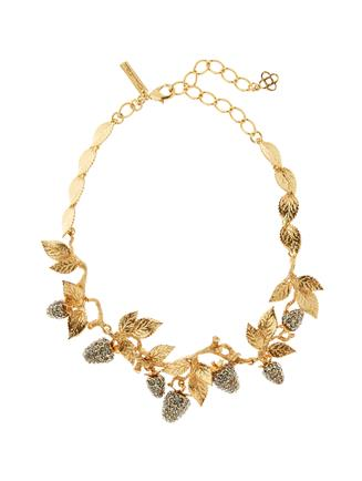 Pavé Berry Necklace  Black diamond
