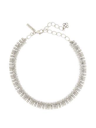 Pavé Caterpillar Necklace  Crystal