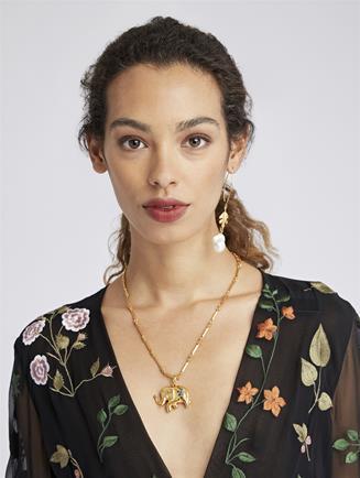 Elephant Necklace  Emerald