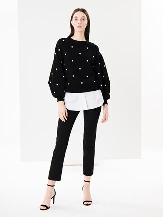 Stretch Wool-Gabardine Pants Black