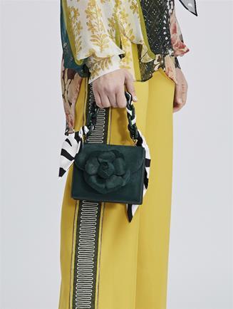 Spruce Calf Hair Mini TRO Bag Green