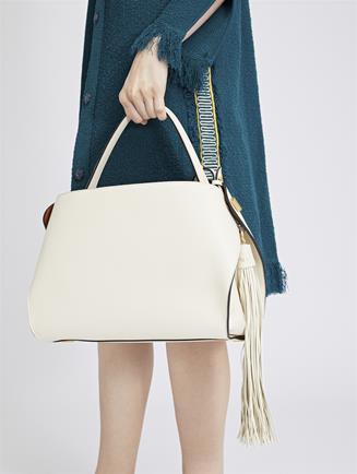 Ivory Leather Nolo Bag Ivory