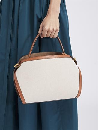 Canvas and Leather Baby Nolo Bag Brown