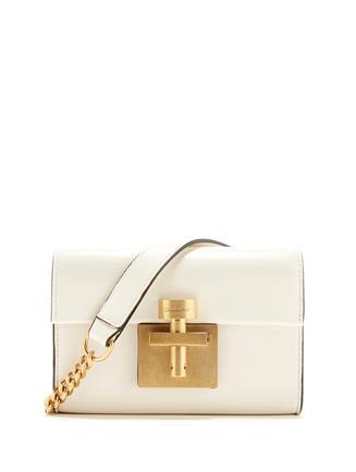 Ivory Leather Alibi Belt Bag Ivory