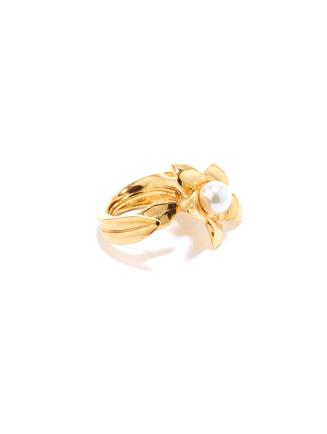 Pearl Flower Ring  Gold