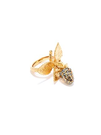 Pavé Berry Ring  Black diamond