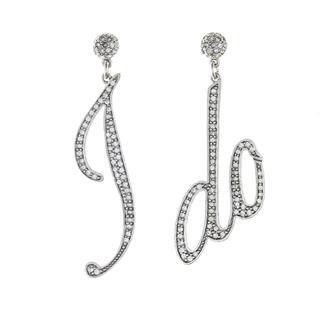 I Do Oversized Earrings Crystal/Silver