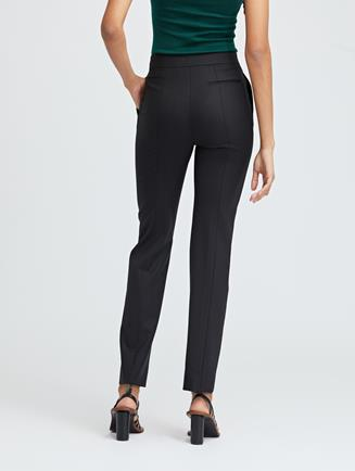 Double-Face Stretch-Wool Skinny Pants Black