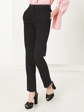 Straight-Leg Pants Black