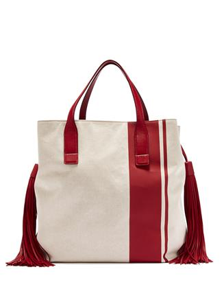 TAMARIND CANVAS AND LEATHER UNION SQUARE TOTE tamarind