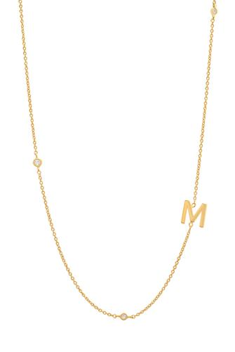 Gold Alphabet Necklace M GOLD