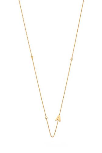 Gold Alphabet Necklace A GOLD
