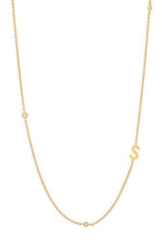 Gold Alphabet Necklace S GOLD