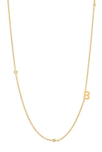 Gold Alphabet Necklace B GOLD