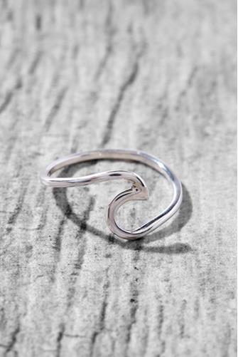 WAVE RING SILVER SILVER