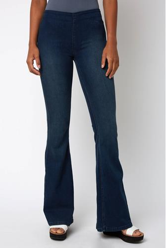 Penny Pull On Flare Jean in Rich Blue MEDIUM-DENIM