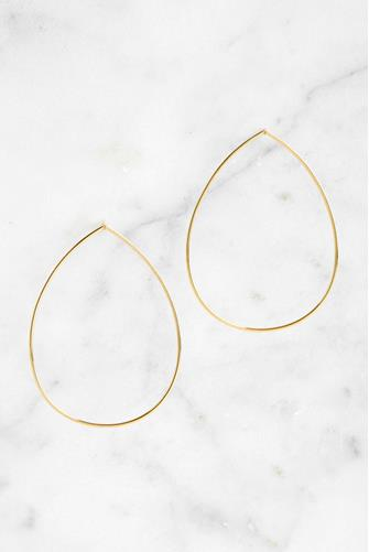 Open Teardrop Earrings GOLD