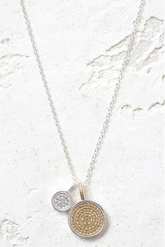Circle Of Life Divided Disc Charity Necklace GOLD