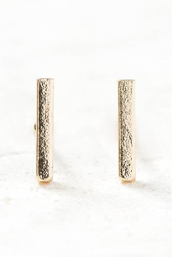 Gold Mini Bar Stud Earrings GOLD