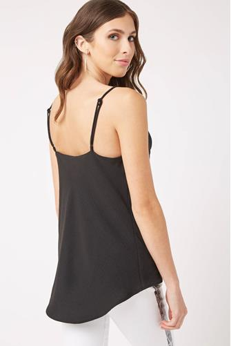 Cowl Neck Cami BLACK