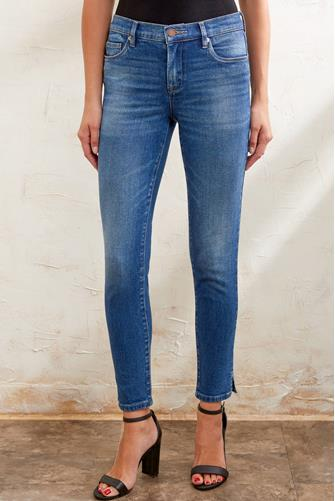 The Reade Mid Rise Skinny Ankle Jean in Radio Silence MEDIUM-DENIM