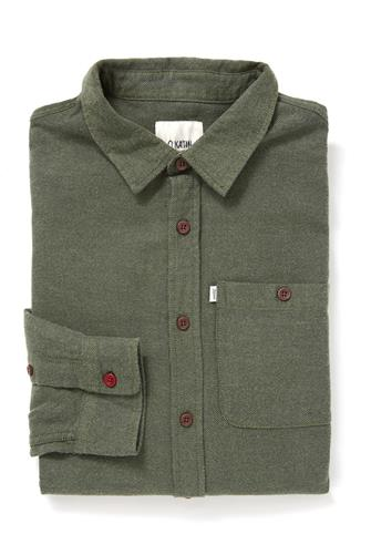 LS TWILLER SOLID WOVEN OLIVE