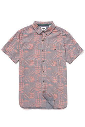 SS BLOCK PRINT WOVEN RED