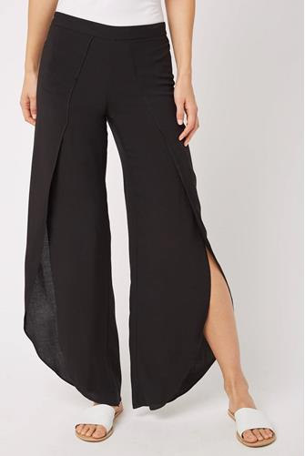 Whitney Wrap Pant BLACK