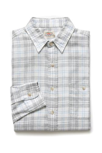 Seaview Plaid Button Down Shirt GREY