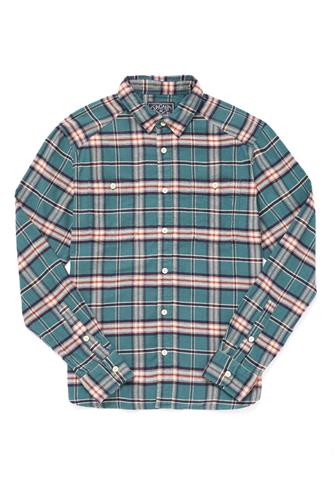 Forest Plaid Button Down Shirt TEAL