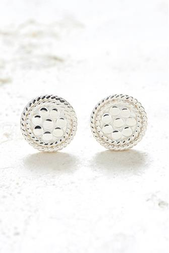 Silver Tiny Circle Stud Earrings SILVER