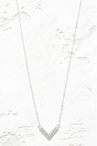 Silver Reversible Mini Arrow Necklace SILVER