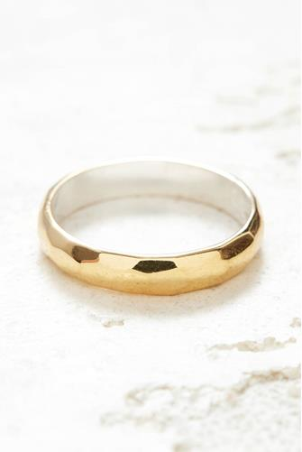 HAMMERED STACKING RING - GOLD GOLD