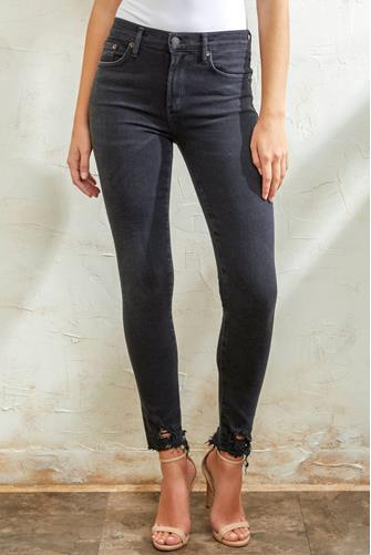 Sophie Hi Rise Ankle Jean in Shout BLACK