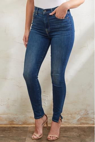 The High Waist Ankle Skinny Jean in Mohawk River MEDIUM DENIM