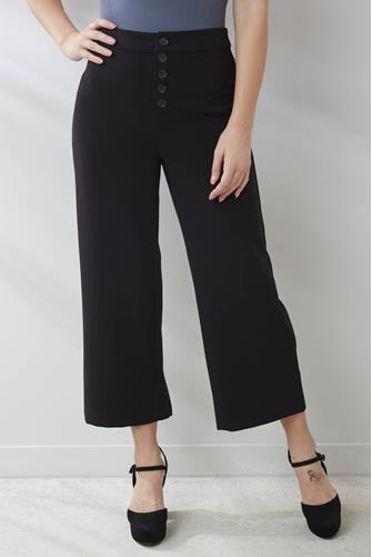 cupcakes and cashmere Riga High Waisted Culotte Pant BLACK