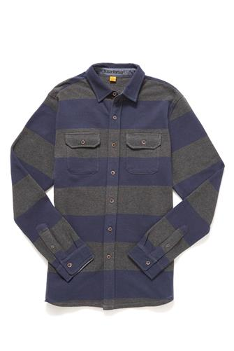 Rugby Stripe Button Down Shirt GREY-MULTI--