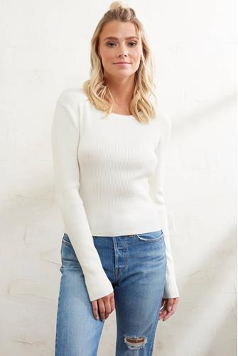 Ribbed Fitted Sweater IVORY