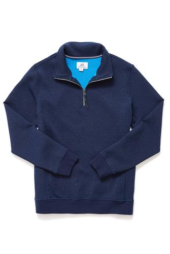 Bonded Donegal 1/4 Zip Pullover NAVY