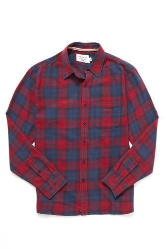 Dakota Plaid Woven Button Down Shirt RED-MULTI--