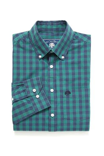 LS LARGE GINGHAM SHIRT GREEN MULTI -