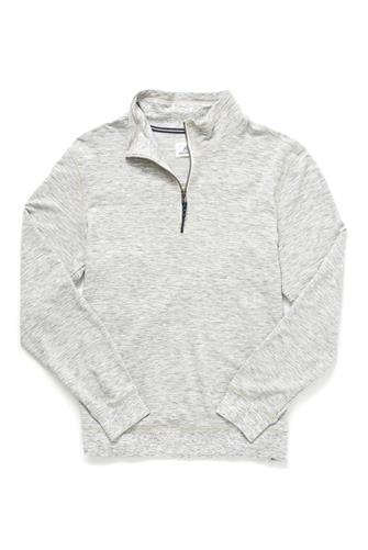 Brushback Soft Heathered 1/4 Zip Pullover GREY