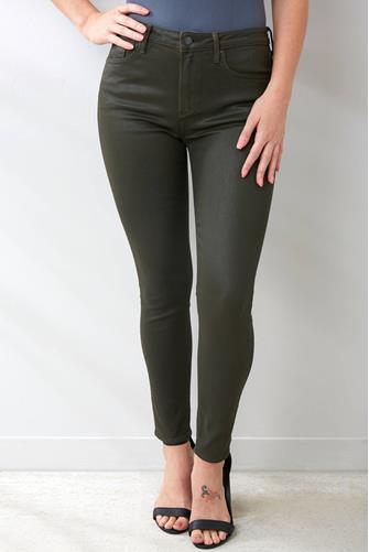 Jackie Skinny Jean in Olive Coated OLIVE
