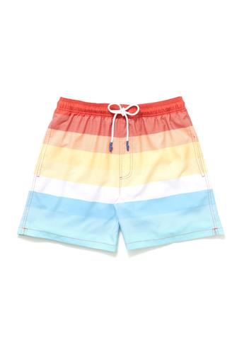 Galley Stripe Swim Trunk RED-MULTI--