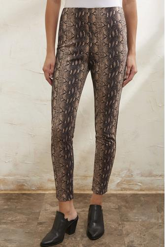 Suede Snake Skinny Pant BROWN-MULTI--