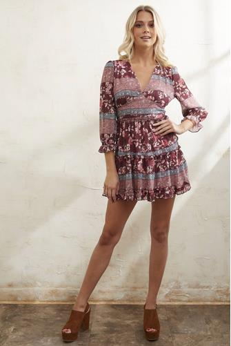 Road To Nowhere Dress RED MULTI -