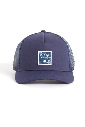 STACKED TRUCKER HAT NAVY