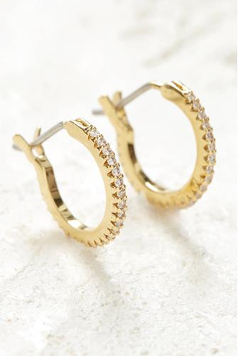 Gold Shimmer Huggie Earrings GOLD
