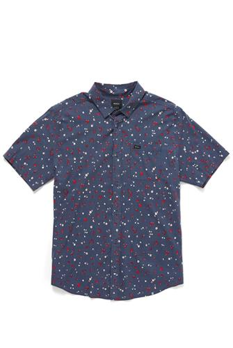 Calico Ditsy Floral Button-Up Shirt NAVY